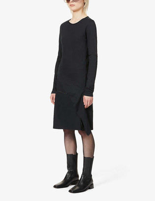 BYRONESQUE x Helmut Lang cotton-jersey midi dress
