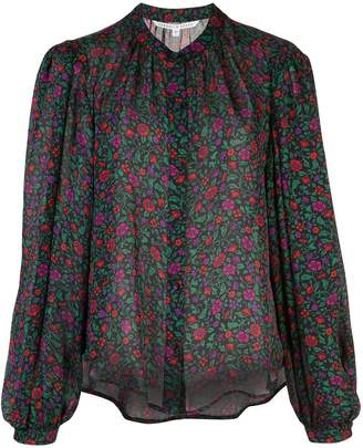 Veronica Beard floral-print silk blouse