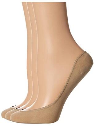 Hue Cool Contours Low Cut Liner 3-Pack (Cream) Women's Low Cut Socks Shoes