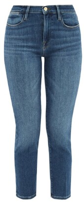 Frame Le High High-rise Straight-leg Jeans - Denim