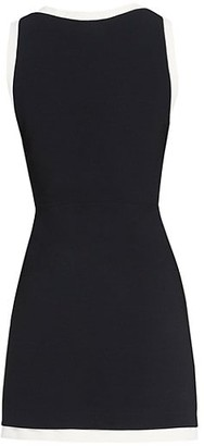 Alice + Olivia Truly Contrast-Trim Bodycon Dress