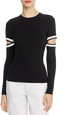 Alice + Olivia Jazi Cutout-Sleeve Sweater