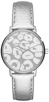 Armani Exchange AX5539 Women's Patterned Leather Strap Watch, Silver/Grey