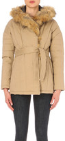 Maje Galo stretch-cotton coat