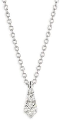 Hearts On Fire Triplicity 18K White Gold & Diamond Drop Pendant Necklace