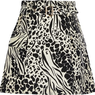 River Island Girls Black belted utility skirt