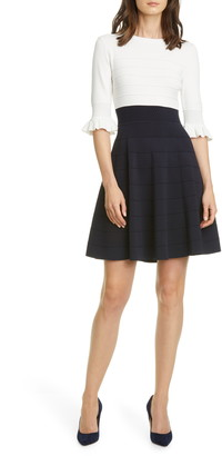 Ted Baker Frill Fit & Flare Dress