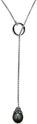 BELPEARL Silver 12Mm Tahitian Chain Necklace