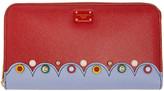 Dolce & Gabbana Red Continental Zip Around Wallet