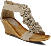 Spring Step Patrizia by Flower Strap Wedge Sandals - Harlequin