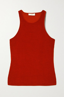Vince Textured Stretch-jersey Tank - Brick