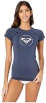 Roxy Beach Classics Cap Sleeve Rashguard (Mood Indigo) Women's Swimwear
