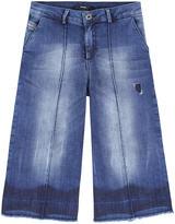 Diesel Prettix girl loose fit jean culottes
