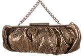 Thomas Wylde Metallic Textured Leather Handle Bag