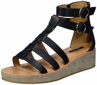 Kensie womens Gladiator Wedge Sandal