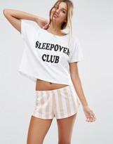Asos Sleepover Club Tee & Short Pajama Set