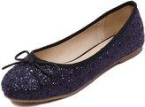 D2C Beauty Women's Bow Slip On Low Heel Ballet Flat Wedding Shoes - 8 M US