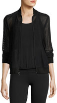 Beyond Yoga So Bomber Mesh Athletic Jacket, Black