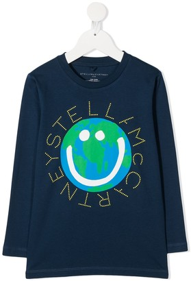 Stella McCartney Kids circle-logo long-sleeve T-shirt