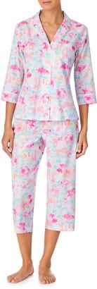 Lauren Ralph Lauren Three Quarter Sleeve Capri Pajamas