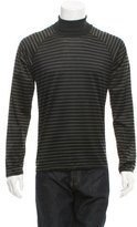 Balenciaga Striped Turtleneck T-Shirt