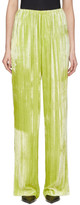 Balenciaga Yellow Velvet Pyjama Suit Trousers