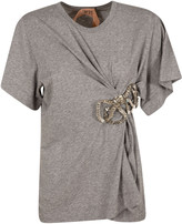 N°21 N.21 Bow Detail Draped T-shirt