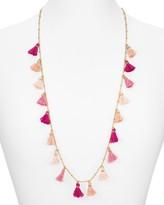 Aqua Mina Tassel Necklace, 36