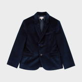 Paul Smith Boys' 7+ Years Navy Velvet 'Magic' Blazer