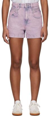 Etoile Isabel Marant Pink Denim Hiana Shorts