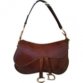 Christian Dior Saddle Brown Leather Handbags