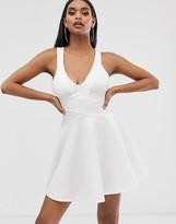 Asos Design DESIGN bandage mini skater dress