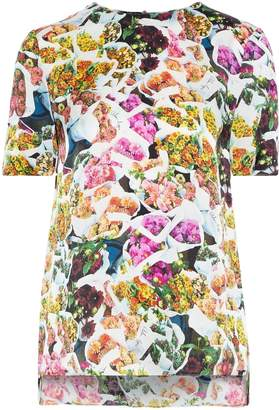ADAM by Adam Lippes Floral-print Silk Crepe De Chine T-shirt