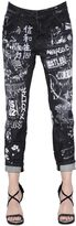 DSQUARED2 Cool Girl Printed Destroyed Denim Jeans
