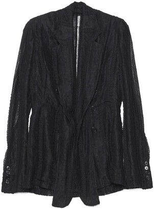 Ann Demeulemeester Oversized Lace Blazer