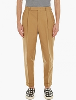 Paul Smith Taupe Pleat-front Cotton Chinos