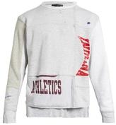 Longjourney Nash athletics-print cotton-jersey sweatshirt