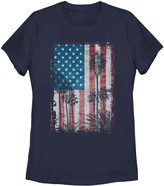 Unbranded Juniors' Palm Tree American Flag Tee