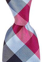 Roundtree & Yorke Trademark Square Plaid Traditional Silk Tie