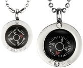 "Dahlia Direction of Love Compass Stainless Steel Pendant Necklace Set 16"" & 24"""