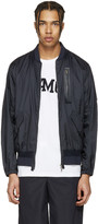 Oamc Navy Nylon Bomber Jacket