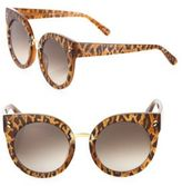 Stella McCartney 51MM Leopard-Print Rounded Cat's-Eye Sunglasses