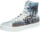 Thumbnail for your product : Amiri Multicolor Palm Tree Canvas Sunset High Top Sneakers Size 42