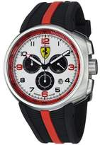 Ferrari Men's Fast Lap White Dial Black Rubber Strap Quartz Watch