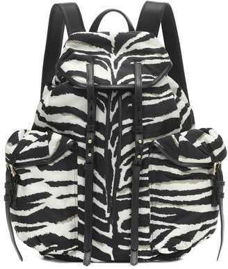 Dries Van Noten Zebra-print nylon backpack