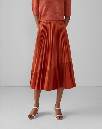Club Monaco Pleated Curve Seam Skirt