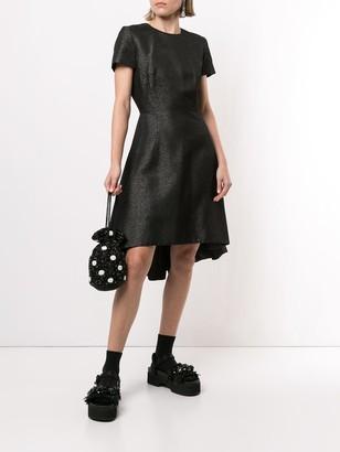 Pre-Owned Metallic Flared Dress