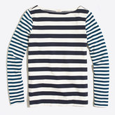 J.Crew Factory Long-sleeve mixed-stripe T-shirt
