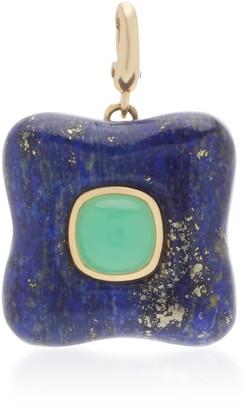 Rush Jewelry Design 18K Yellow Gold and Lapis Draper Charm