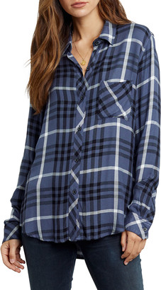 Rails Hunter Long-Sleeve Button-Down Plaid Shirt